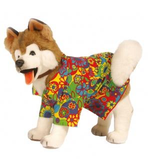 Hippie-Kostüm für Hunde Flower Power Hundenkostüm Karneval Fasching Hund-Kostüm