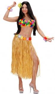 Hawaii Rock Kostüm Karibik Bastrock natur lang Damenkostüm Karneval Sommerparty