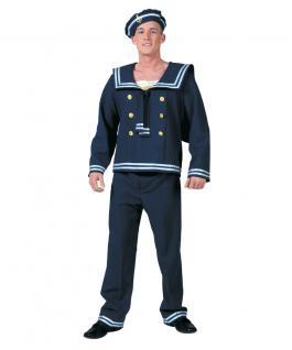 Kostüm Marine Matrose blau Matrosen-Kostüm Herr Karneval Herrenkostüm KK