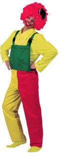 Clown Latzhose Hose Clownkostüm rot gelb grün Herrenkostüm Fasching Karneval KK