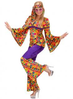 Hippie-Kostüm Damen Hippi Flower-Power 60er Jahre Damenkostüm Karneval Fasching