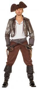 Pirat-Kostüm Herren Piraten-Kostüm Herren Pirat-Jacke Hemd Hose Herren-Kostüm KK