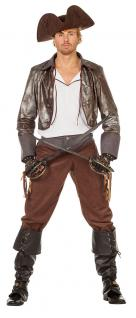 Piratenkostüm Herren Pirat-Jacke Piratenhemd Piratenhose Kapitän Freibeuter KK