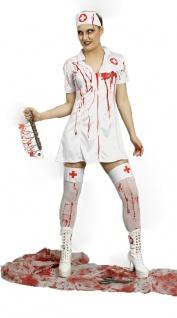 Krankenschwester Kostüm Damen mit Blut Zombie-Kostüm Halloween Fasching KK