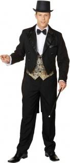 Herrenfrack schwarz hochwertiger Frack Herren Karneval Herren-Kostüm KK