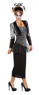 Gothic Kostüm Damen Viktorianisches Damen-Kostüm Halloween KK