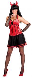 Teufel Kostüm Damen Teufelin Halloween sexy Teufel Damenkostüm KK