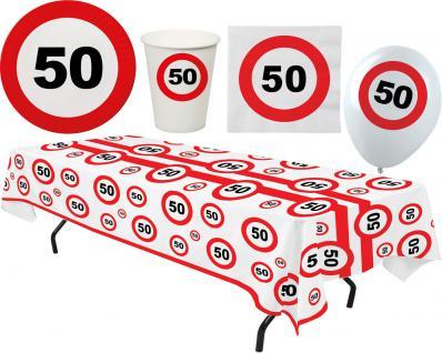 Party Set XL 45 Teile Geburtstag 50 Jahre Verkehrsschild