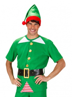 Weihnachtshelfer Weihnachtself Wichtel Herren Kostüm Weihnachtskostüm 3-tlg. KK