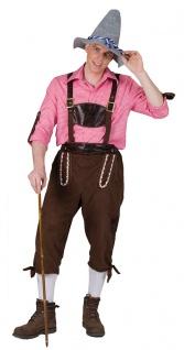 Oktoberfest Lederhose Herren Marcus Kostüm Bayernhose Trachten Herrenkostüm KK