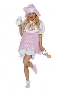 Baby Kostüm Damen Erwachsenen rosa Riesenbaby JGA Karneval Fasching KK