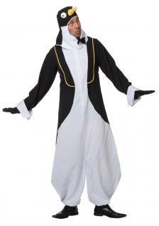 Pinguïn Kostüm Herren Pinguin-Overall mit Kopf Tier-Kostüm Herren-Kostüm KK