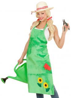 Kostüm Gärtnerin Schürze grün Sonnenblume Fasching Karneval Damenkostüm KK