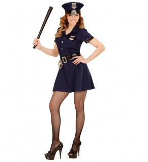 Polizist Kostüm Damen FBI Cop Polizistin Polizei Damenkostüm Karneval Fasching K