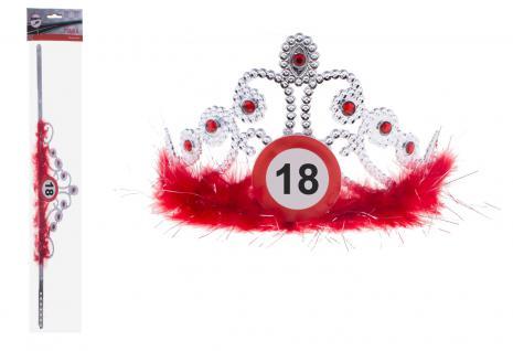 Krone Geburtstag Verkehrszeichen 18 Jahre - Vorschau