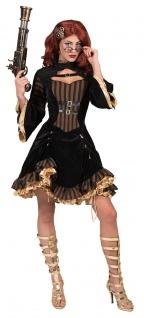 Steampunk Kleid Viktorianisches Kleid Steampunk Kostüm Damen braun schwarz gold