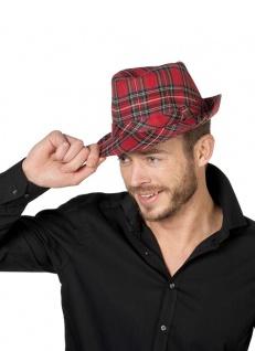Gangster Hut rot kariert Maffia 20er Jahre-Hut Karneval Faching KK - Vorschau