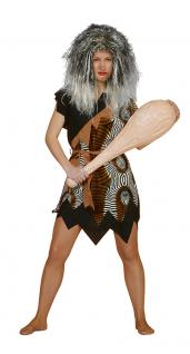 Karneval Klamotten Kostüm Neandertalerin Velboa Kostüm Höhlenmensch Damenkostüm