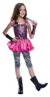 Rockstar Kostüm Mädchen Popstar MIT Mikrofon Fasching Karneval KK