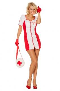 Krankenschwester Kostüm Damen rot weiß sexy Karneval Fasching KK