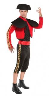 Spanier Herrenkostüm Torero Spanien Spanierkostüm Matador mit Spanischer Hut KK