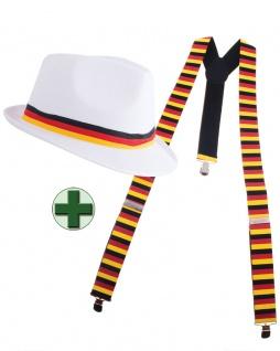 Fan-Artikel: Hut Deutschland Hosenträger Germany EM WM Herren Fußball 2021 KK