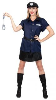 Karneval Klamotten Kostüm Sexy Polizistin Pamela Dame Karneval Polizei