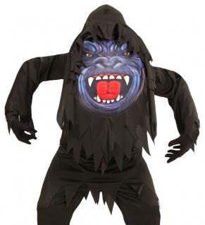 Gorilla-Kostüm Kinder mit riesen Gorilla Maske Halloween Jungen-kostüm KK