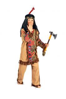 Indianer Kostüm Kinder-Kostüm Junge Kostüm Indianer beige KK