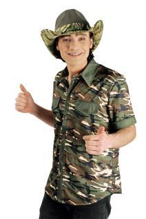 Safari Kostüm Herren Safarihemd Wildhüter Camouflage Herrenkostüm Karneval KK