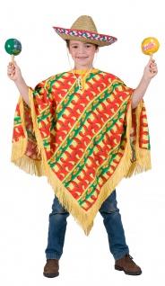 Mexikaner Kostüm Jungen Poncho Einheitsgröße KK