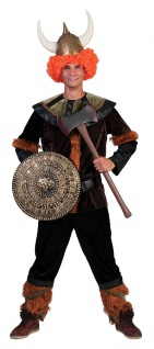 Wikinger Kostüm Herren Nordmann Barbar Viking Fasching Karneval Herrenkostüm KK