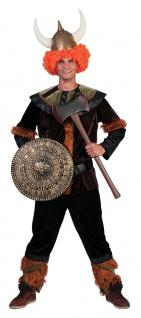 Wikinger Kostüm Herren Nordmann Barbar Viking Fasching Karneval KK