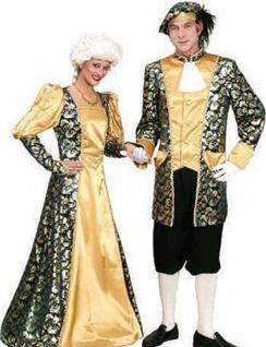 Renaissance Kostüm Damen Rokoko gold grün lang Viktorianisches KleidFasching KK