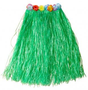 Hawaii Rock Kostüm Karibik Bastrock grün lang Damenkostüm Karneval Sommerparty