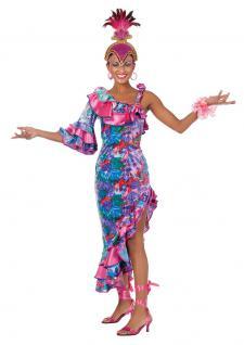 Samba Kostüm Samba Kleid lang Brasilianerin Brasilien Kostüm Rio Damen-Kostüm KK