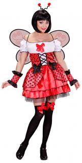 Marienkäfer Kostüm Damen sexy Käfer Kostüm Marienkäfer-Kleid Flügel Haarreif KK