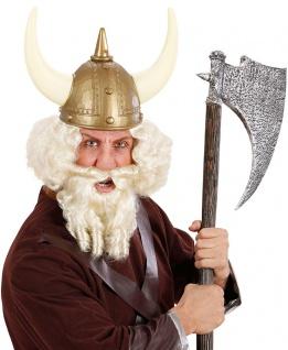 Wikinger Perücke und Bart blond Viking Barbar Perücke KK