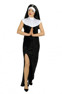 Nonne Kostüm Damen Nonnenkostüm Damenkostüm sexy Nonnenkleid Karneval Fasching K