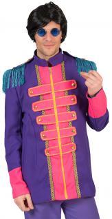 Sergeant Pepper Kostüm Herren Beatles Jacke lila pink Popstar Herren-Kostüm KK