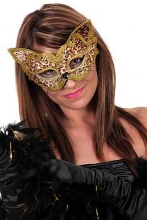 Phanter Maske Venezianische Maske Katze Maskenball Fasching Karneval KK - Vorschau