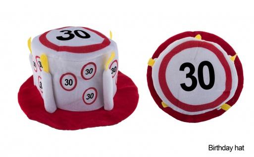 Hut Geburtstag 30 Jahre Verkehrsschild