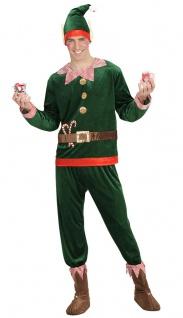 Weihnachtself Kostüm Herren Weihnachtshelfer Wichtel mit Schuhüberzieher Mütze K