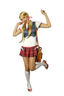 Karneval Klamotten Kostüm Schulmädchen Dame Karneval Studentin Damenkostüm