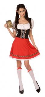 Oktoberfest Dirndl Kostüm rot-schwarz Trachtenkleid Damen Dirndl Damenkostüm KK