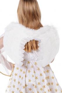 Engels-Flügel Kostüm weiß Federflügel Engel Weihnachten Kinder Karneval Fasching
