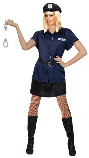 Sexy Polizistin Damenkostüm Polizei Polizist Cop Kostüm Karneval Fasching KK