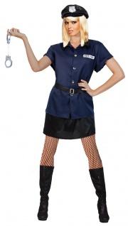Sexy Polizistin Damenkostüm Polizei Polizist FBI Kostüm Karneval Fasching KK
