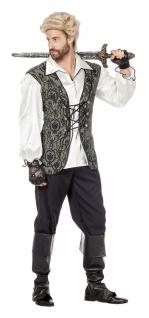 Piratenkostüm Herren Pirat Kapitän Admiral Freibeuter Komplettkostümd Fasching K