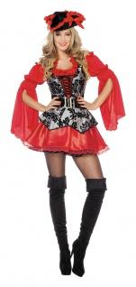 Piraten-Kostüm Damen sexy Pirat Kostüm kurz rot Frauen-Kostüm Karneval Fasching